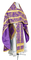 Russian Priest vestments - Koursk rayon brocade S3 (violet-gold), Economy design