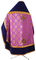 Russian Priest vestments - Myra Licea rayon brocade S3 (violet-gold), Standard design