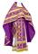 Russian Priest vestments - Iveron rayon brocade S3 (violet-gold), Standard design