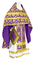 Russian Priest vestments - Loza rayon brocade S3 (violet-gold), Standard design