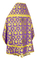 Russian Priest vestments - Loza rayon brocade S3 (violet-gold) back, Standard design