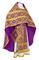 Russian Priest vestments - Nicholaev rayon brocade S3 (violet-gold), Standard design