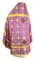 Russian Priest vestments - Polotsk rayon brocade S3 (violet-gold) back, Econom design