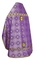 Russian Priest vestments - Shouya rayon brocade S3 (violet-gold) (back), Standard design