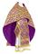 Russian Priest vestments - Byzantine rayon brocade S3 (violet-gold), Standard design