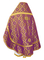 Russian Priest vestments - Nicholaev rayon brocade S3 (violet-gold) back, Standard design