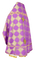 Russian Priest vestments - Kolomna rayon brocade S3 (violet-gold) back, Standard design