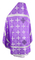 Russian Priest vestments - Polotsk rayon brocade S3 (violet-silver) back, Econom design
