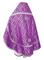 Russian Priest vestments - Nicholaev rayon brocade S3 (violet-silver) back, Standard design
