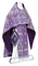 Russian Priest vestments - Shouya rayon brocade S3 (violet-silver), Standard design