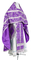 Russian Priest vestments - Korona rayon brocade S3 (violet-silver), Standard design