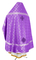 Russian Priest vestments - Ostrozh rayon brocade S3 (violet-silver) back, Economy design
