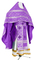 Russian Priest vestments - Ostrozh rayon brocade S3 (violet-silver), Economy design