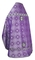 Russian Priest vestments - Shouya rayon brocade S3 (violet-silver) back, Standard design