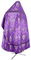 Russian Priest vestments - Vine Switch rayon brocade S3 (violet-silver) back, Standard design