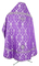 Russian Priest vestments - Korona rayon brocade S3 (violet-silver) back, Standard design
