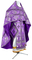 Russian Priest vestments - Vine Switch rayon brocade S3 (violet-silver), Standard design