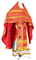 Russian Priest vestments - Ostrozh rayon brocade S3 (red-gold), Economy design