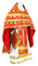 Russian Priest vestments - Loza rayon brocade S3 (red-gold), Economy design