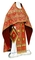 Russian Priest vestments - Shouya rayon brocade S3 (red-gold), Standard design