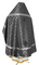 Russian Priest vestments - Ostrozh rayon brocade S3 (black-silver) back, Economy design