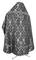 Russian Priest vestments - Korona rayon brocade S3 (black-silver) back, Standard design