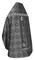 Russian Priest vestments - Shouya rayon brocade S3 (black-silver) back, Standard design