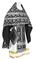 Russian Priest vestments - Loza rayon brocade S3 (black-silver), Economy design