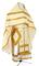 Russian Priest vestments - Lyubava rayon brocade S3 (white-gold), Economy design