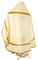 Russian Priest vestments - Lyubava rayon brocade S3 (white-gold) back, Economy design