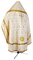 Russian Priest vestments - Korona rayon brocade S3 (white-gold) back, Standard cross design