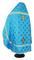 Russian Priest vestments - Polistavrion rayon brocade S4 (blue-gold) back, Standard design