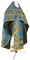 Russian Priest vestments - Pochaev rayon brocade S4 (blue-gold), Standard design