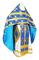 Russian Priest vestments - Podolsk rayon brocade S4 (blue-gold), Economy design