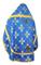 Russian Priest vestments - Podolsk rayon brocade S4 (blue-gold) back, Economy design
