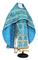 Russian Priest vestments - Thebroniya rayon brocade S4 (blue-gold), Standard design
