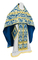 Russian Priest vestments - Bryansk rayon brocade S4 (blue-gold), Standard design
