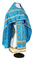 Russian Priest vestments - Polistavrion rayon brocade S4 (blue-gold), Standard design