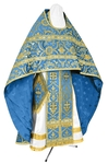Russian Priest vestments - rayon brocade S4 (blue-gold)