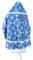 Russian Priest vestments - Pskov rayon brocade S4 (blue-silver) back, Standard design