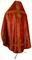 Russian Priest vestments - Pochaev rayon brocade S4 (claret-gold) back, Standard design