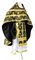 Russian Priest vestments - Pskov rayon brocade S4 (black-gold), Standard design