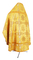 Russian Priest vestments - Donetsk rayon brocade S4 (yellow-gold) back, Premium design