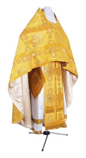 Russian Priest vestments - rayon brocade S4 (yellow-gold)