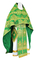 Russian Priest vestments - Pavlov Bouquet rayon brocade S4 (green-gold), Standard design