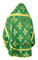 Russian Priest vestments - Podolsk rayon brocade S4 (green-gold) back, Economy design