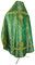 Russian Priest vestments - Pochaev rayon brocade S4 (green-gold) back, Standard design