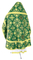 Russian Priest vestments - Pskov rayon brocade S4 (green-gold) back, Standard design