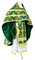 Russian Priest vestments - Pskov rayon brocade S4 (green-gold), Standard design