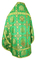 Russian Priest vestments - Donetsk rayon brocade S4 (green-gold) back, Standard design